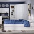 Angel kids range in light oak bed with underbed drawer