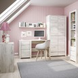 ANGEL KIDS COLLECTION girls room with desk, shelf, wardrobe and bookcase