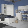 ANGEL KIDS COLLECTION boys room with bed, cornerwardrobe, bookcase, desk and topunit