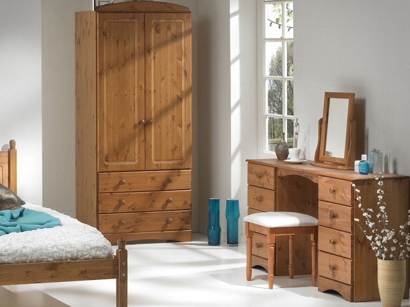 Scandi solid pine bedroom furniture collection